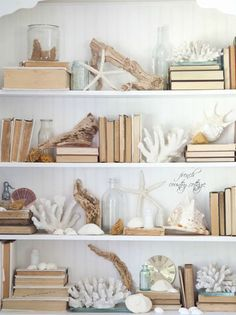 FRENCH COUNTRY COASTAL COTTAGE: This may be too much but maybe a little of this on 2 shelves. Love!