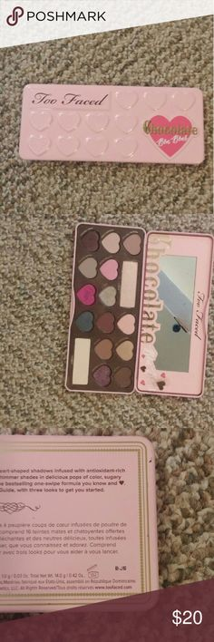 Chocolate Bonbon Palette Too Faced eyeshadow palette. Authentic. Will sanitize. One shadow is loose. Smells like chocolate. Too Faced Makeup Eyeshadow
