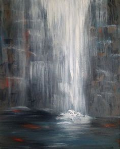 """Acrylic+Painting+of+Ice+Waterfalls 