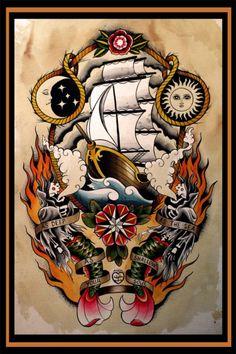 Ink It Up Trad Tattoos Blog | Or Kantor http://sailorkantor.tumblr.com/