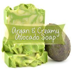 This luxurious Argan & Avocado Soap makes a phenomenal face or body soap with an extra moisturizing oomph from avocado oil, full tutorial with photos! #soapmaking