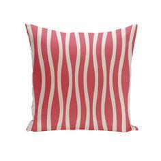 e by design Wavy Stripe Cotton Throw Pillow & Reviews | Wayfair