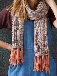 Franklin Scarf Free Knitting Pattern