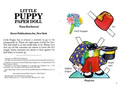 Dover's LITTLE PUPPY Paper Doll
