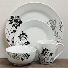The floral design of this elegant 16-piece Rebecca dinnerware collection are sure to set your table abloom. Crafted from high-fired vitrified porcelain, it's a durable yet stylish choice for any decor.