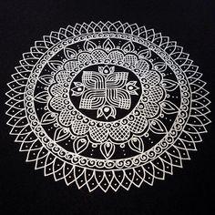 Another Kolam/Rangoli Inspired Mandala   Flickr - Photo Sharing!