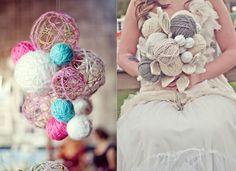 Yarn ball bouquet