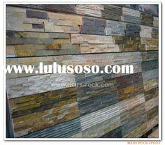 tiling river rocks on a wall? | Rock Tile Wall