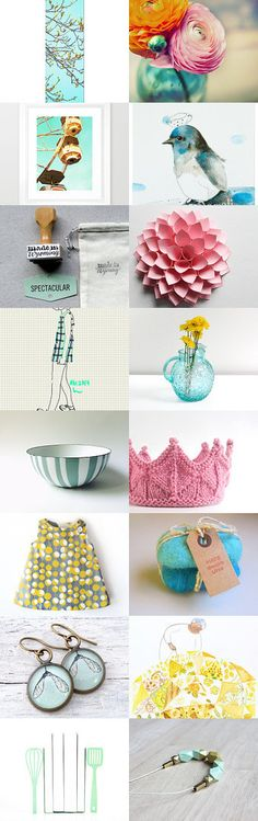 spring trees by Julie B on Etsy--Pinned with TreasuryPin.com