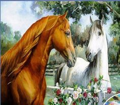 Brown And White Horse Painting Wallpaper Cute Horses, Horse Love, Beautiful Horses, Animals Beautiful, Pretty Horses, Beautiful Images, Painted Horses, Horse Wallpaper, Painting Wallpaper