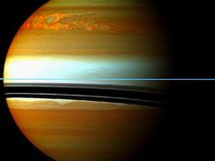 "Saturn Storm Creates Largest and Hottest Vortex Ever Seen in Solar System  By Adam MannEmail AuthorOctober 25, 2012  Image: A Cassini spacecraft image of the ""Great Springtime Storm"" that passed through Saturn's atmosphere in 2010 and 2011. After the storm abated, astronomers found invisible signs that unrest was continuing. NASA/JPL-Caltech/Space Science Institute"