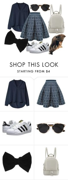 """""""Dark Blue"""" by rsytsfn-xx on Polyvore featuring Rumour London, adidas Originals, Christian Dior, claire's, MICHAEL Michael Kors and Marlangrouge"""