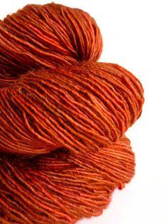 henna  hand dyed yarn