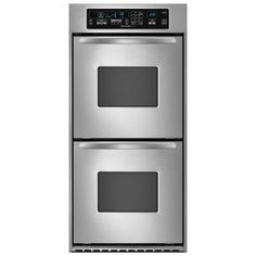 24-Inch Convection Double Wall Oven, Architect® Series II Handles (KEBC247VSS) | kitchenaid®