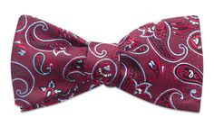 Shelburne Red Self-Tie Bow Tie – Weybridge 1761
