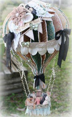Msliberty Creations: Graphic 45 Design T - Diy Crafts Paper Art, Paper Crafts, Diy Crafts, Hot Air Balloon Paper, Balloon Crafts, Up Book, Basket Decoration, Vintage Crafts, Graphic 45
