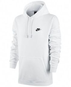 Nike Men's Big and Tall Pullover Fleece Hoodie - White XL Tall Nike Shorts, Nike Hoodie, Fleece Hoodie, Nike Jacket, Mens Pullover Hoodie, Nike Outfits, Casual Outfits, Nike Sweatshirts, Men's Hoodies