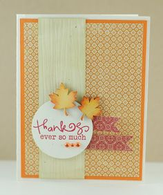Autumn card by Lynn Mangan using Verve Stamps.