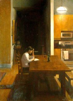 Reading and red Edward Minoff born 1972 in New York, USA more: Edward Minoff McColl fine art John Pence gallery Cavalier galle...
