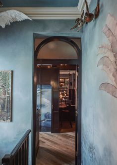 Inside Merivale's new Sydney venue, Queens Hotel — Vogue Living Stair Well, Lake Painting, Vogue Living, Fancy Houses, Wall Finishes, Surf Art, Hospitality Design, Cafe Design, Blue Accents