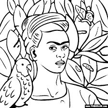 Image result for frida kahlo pinturas para colorear