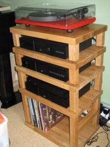 Hifi rack ikea  mueble hifi con las mesas de ikea   manualidades   Pinterest ...