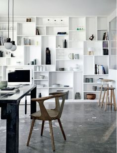 Perfect wall of shelves and nooks
