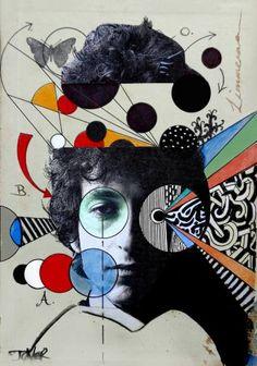 "Saatchi Art Artist Loui Jover; Collage, ""dylan deconstruct"" #art"