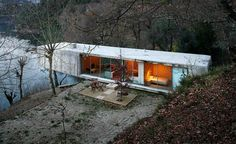 In the wood. lake houses, house design, mobile homes, dream homes, container houses, national parks, architecture, modern houses, portugal