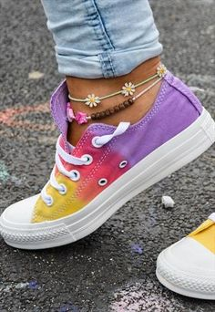 Sunset Tie dye Customised Converse  £55.00 - holy hell!  I've got so many combinations in my head.