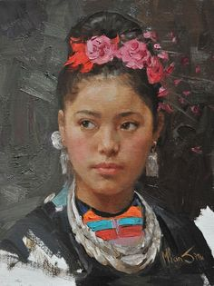Mian Situ (Chinese/American, born 1953) 'Girl with Flower'