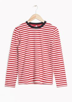 & Other Stories image 1 of Striped Sweater in Red