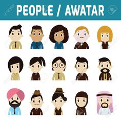 Set Of Flat People Avatar Icons.modern Design Flat Character.. Royalty Free Cliparts, Vectors, And Stock Illustration. Image 41699141.