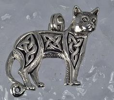 sterling silver celtic infinity knot cat by princeofdiamonds, $48.33