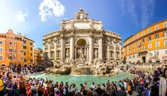 Visit Rome: Top 25 things to do and see - BonAdvisor Rome Places To Visit, Must See Italy, Chateau Saint Ange, 3 Days In Rome, Rome Antique, Sites Touristiques, Trevi Fountain, Italy Travel, The Good Place