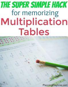 Simple trick for memorizing mupliplication tables - The best math hack you might… #mathhacks #mathtricks