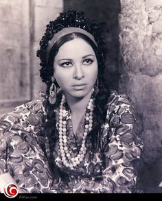 Fatten Hamama #egyptian #actress in the part of Egyptian farmer - Paysanne…
