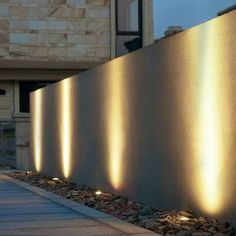 Buy Practical installed ground light Ava ✓Top-rated service ✓Comfortable & secure payment Years of experience ✓Order now! Modern Exterior Lighting, Exterior Wall Light, Backyard Lighting, Outdoor Wall Lighting, Garden Lighting Ideas, Outdoor Flooring, Outdoor Walls, Natural Stone Wall, Lawn Lights
