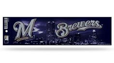 Milwaukee Brewers Bumper Sticker - Glitter