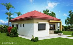 This 3 bedroom house design has a total floor area of 82 square meters. Minimum lot size required for this design is 167 square meters with 10 meters lot width to maintain meters setback both side. Architect Design House, House Roof Design, Simple House Design, Simple House Plans, Beautiful House Plans, Modern Bungalow House, Bungalow House Plans, Square House Plans, Affordable House Plans