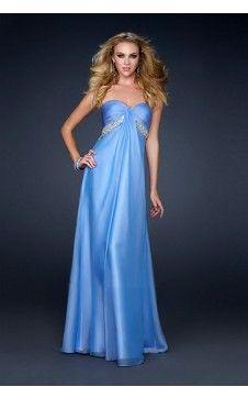 Fabuleuse robe de bal Empire Col en cœur Longueur ras du sol Mousseline