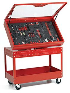 Williams WTC496CARTR 6S Visual Control Cart Red * Check out this great product. (This is an affiliate link) #StorageOrganization