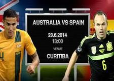 Australia vs Spain free FIFA World Cup Soccer Live Streaming 2014 Watch Spain vs Australia World Cup soccer live stream online free match in here. You can easily enjoy Group B free FIFA online digital satellite Television on any device.