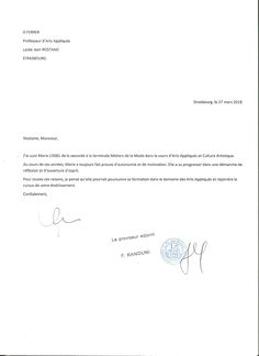 lettre de reference example