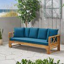 Long Beach Acacia Wood Extendable Patio Daybed Sofa Teak - Christopher Knight Home : Target Wood Daybed, Outdoor Daybed, Patio Loveseat, Home Furniture, Outdoor Furniture, Furniture Ideas, Wood Patio, Large Sofa, Acacia Wood