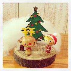 ミニこけし(サンタとトナカイのクリスマス)