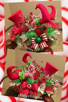 ideas grinch christmas tree decorations holidays for 2019 Grinch Christmas Tree Decorations, Elf Christmas Tree, Christmas Swags, Christmas Arrangements, Whimsical Christmas, Christmas Centerpieces, Xmas Decorations, Christmas Time, Elf Centerpieces