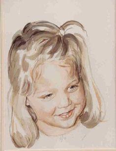 watercolor portrait sketch