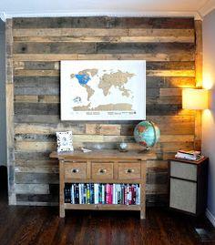artisan des arts: DIY Pallet wall for $0!