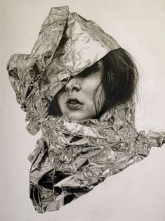 "Self-Deception Portraits. Artist and illustrator Gillian Lambert created this series of drawings called ""Self-Deception"". The artist graduated from Kenyon Graphite Drawings, Pencil Drawings, Art Drawings, Pencil Art, Graphite Illustrations, Gillian Lambert, Bizarre, A Level Art, Amazing Drawings"